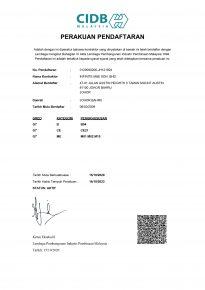 CIDB Perakauan Pendaftaran (2020-2023)