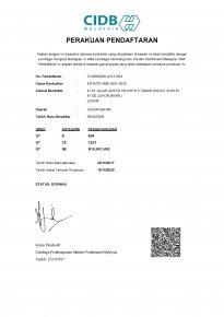 CIDB Perakauan Pendaftaran (2017-2020)